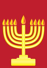 Happy Hanukkah, The Hanukkah menorah