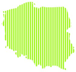 Map of Poland _green_lines