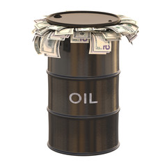 Oil Dollar. Clipping path included.