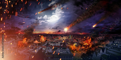 Leinwandbild Motiv - konradbak : Conceptual photo of the apocalypse