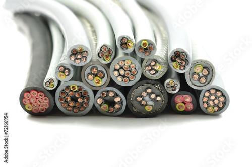 Leinwanddruck Bild Diverse Elektrokabel