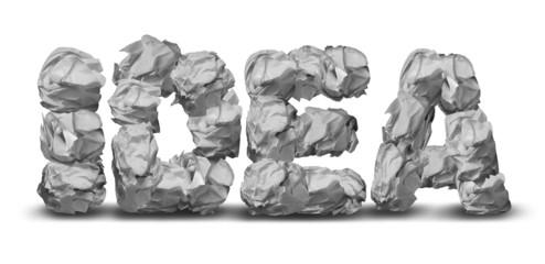 Crumpled Paper Idea