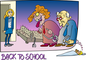 back to school cartoon illustration