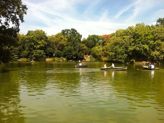 Boat on Lake Central Park