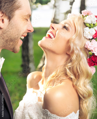 Portrait of the just married couple - 72170375