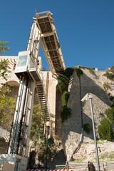 Lift for storic district of castello, Cagliari