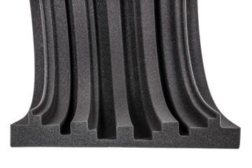 cross section of microfiber foam wall