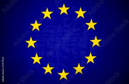 canvas print picture EU Fahne, Flagge der europäischen Union