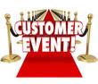 canvas print picture - Customer Event Appreciation Celebration Red Carpet Exclusive Inv