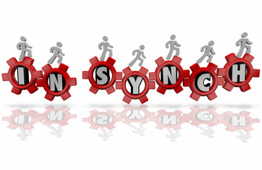 In Synch Workers Team Organization Common Shared Mission Goal