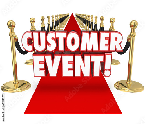 canvas print picture Customer Event Appreciation Celebration Red Carpet Exclusive Inv