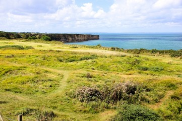 American D-day beaches at Pointe du Hoc, Normandy, France