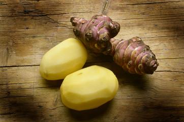 Helianthus tuberosus Topinambur Solanum tuberosum Potato