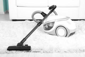 Vacuum on carpet close-up