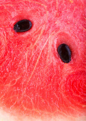 close up image of red watermelon freshness
