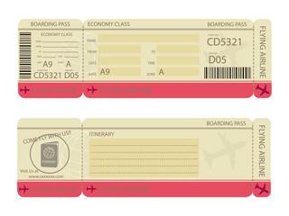 Boarding Pass Design Template