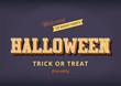 Obrazy na płótnie, fototapety, zdjęcia, fotoobrazy drukowane : Halloween festival typography vintage design poster