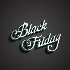 Black Friday type calligraphic typography. Sale Discount