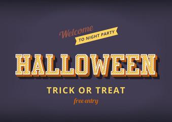 Halloween festival typography vintage design poster