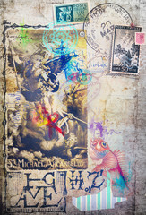 Scrapbook,collage,graffiti and patchwork series