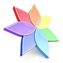Flower Color Wheel 3D
