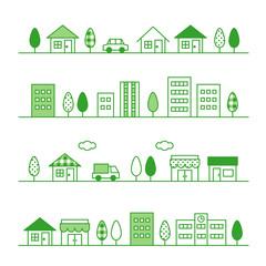 町並み 緑バージョン
