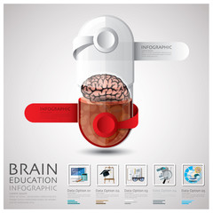 Pill Capsule Brain Education And Learning Infographic