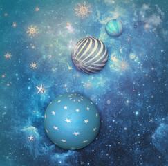 Deep blue starry sky