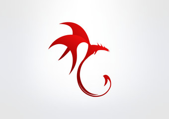 Dragon Logo Abstract icon symbol brand Business