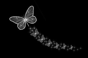 Florescent White Butterflies