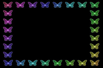 Colorful Butterfly Border