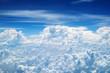 canvas print picture - Über den Wolken