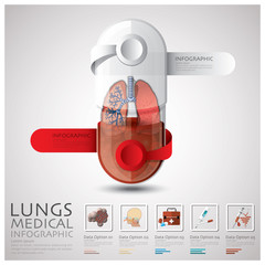 Pill Capsule Lungs Health And Medical Infographic
