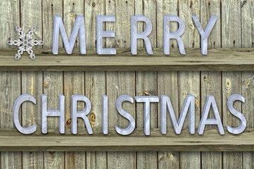 letters christmas on wood  background
