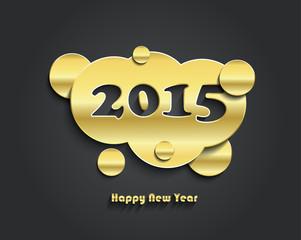 Happy new year 2015 creative card design