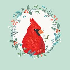 Christmas Cardinal bird