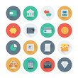 Pixel perfect finance and money flat icons