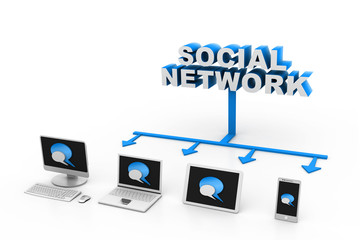 Social network  devices