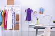 Leinwandbild Motiv Work place with sew manikins
