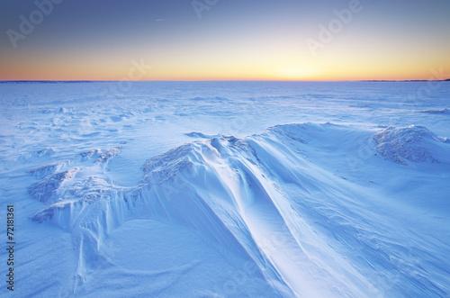 Winter landscape. - 72181361