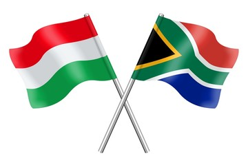 Flags: Hungary and South Africa