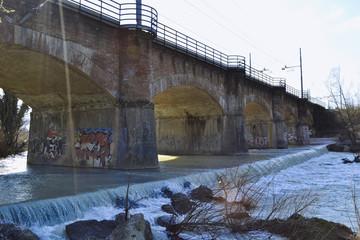 Ponte ferroviario sul fiume Foglia- Pesaro