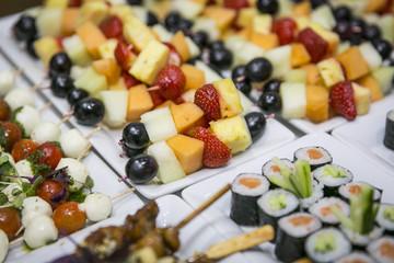 Obstspieße Spieße auf Buffet / Catering