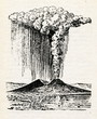 Mount Vesuvius eruption 1822 - 72183591