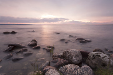 Swedish coastline before sunset, Öland