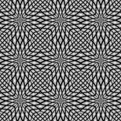 Design monochrome seamless mosaic pattern
