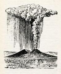 Mount Vesuvius eruption 1822
