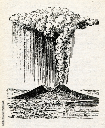 Mount Vesuvius eruption 1822