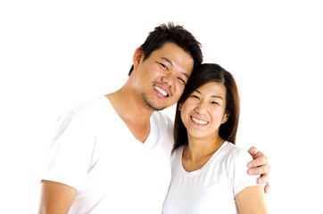 Portrait of asian couple