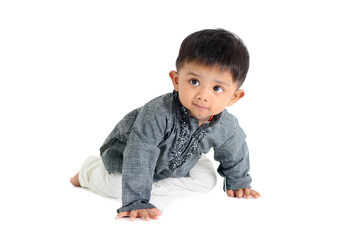 crawling indian baby